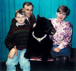 Геннадий Влах с женой Галиной и сыном
