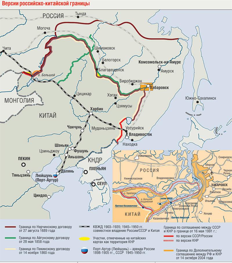 Граница с китаем спорные территории